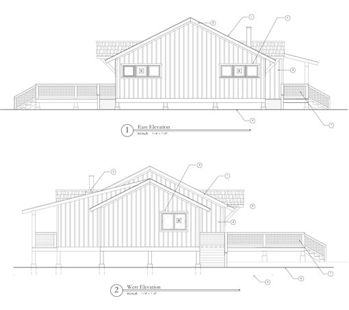 Pavilion East & West Elevations